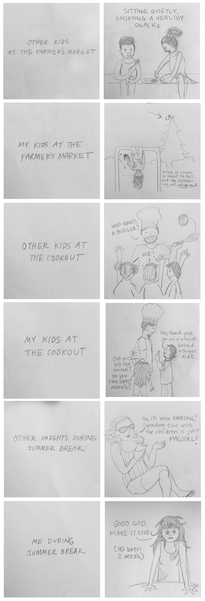 Sketches-Summer Parenting
